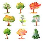 彩色树木设计
