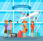 机场旅行人物