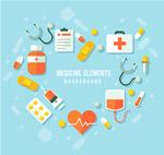 医疗元素组合爱心