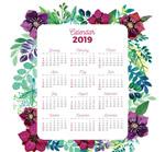 2019花卉边框年历