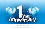 1年周年纪念贺卡