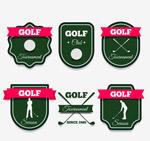 高尔夫元素标签