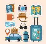 创意旅行元素矢量