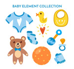 蓝色系婴儿用品