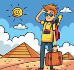 埃及旅行男子