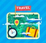 方形旅行地图