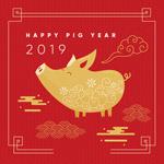猪元素新年海报