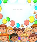 气球和儿童框架
