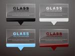 透明玻璃语言气泡