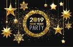 新年派对挂饰海报