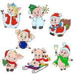 7款卡通小猪