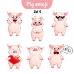 可爱卡通猪表情