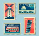 环球旅游邮票