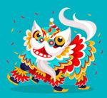 动感节日舞狮子