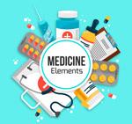 扁平化医疗元素