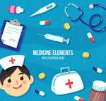 卡通医疗人物框架