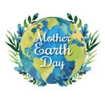 水彩绘世界地球日