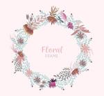 素色花卉框架