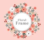 彩色质感菊花框架