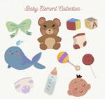 彩绘婴儿元素
