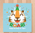 老虎头像生日卡