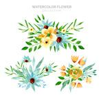 水彩绘花束设计