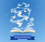 书籍里飞出的纸鸽子
