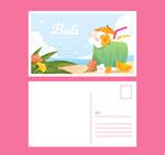 巴厘岛沙滩明信片