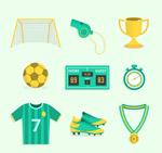 绿色足球元素