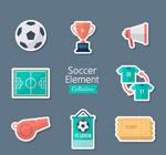 创意足球元素贴纸