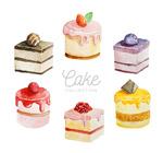 水彩绘美味蛋糕