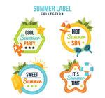 彩色夏季假期标签