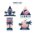 手绘夏日假期标签