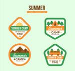 夏季野营标签矢量