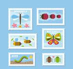 彩色昆虫邮票