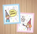 彩绘儿童生日贺卡