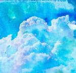 彩绘天空云朵风景