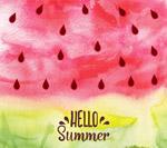 水彩你好夏季西瓜