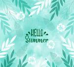 绿色你好夏季