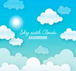 太阳和云朵风景