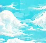 蓝天上的云层