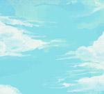 彩绘蓝天白云