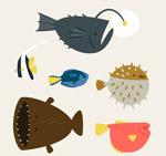 可爱海洋鱼类
