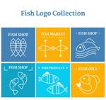 抽象鱼标志矢量