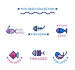 可爱鱼标志设计