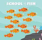 海底橙色鱼群