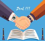 签订合同握手的手臂