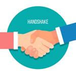 商务握手的手臂