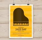 爵士乐日钢琴海报