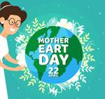 地球日女子和地球